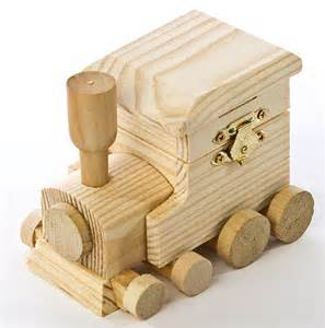 Unfinished wood hinged train box doll accessories doll making