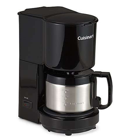 bed bath coffee maker cuisinart 174 4 cup coffee maker with stainless steel carafe