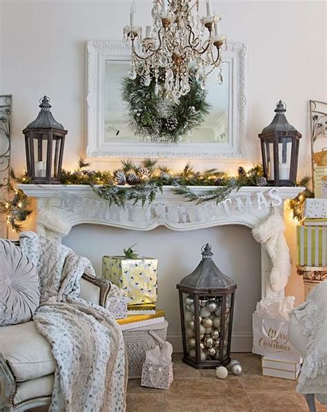 country christmas mantel decorating ideas 40 cozy living room d 233 cor ideas shelterness