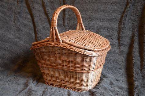 Handmade Basket - handmade wicker picnic basket handmade willow by