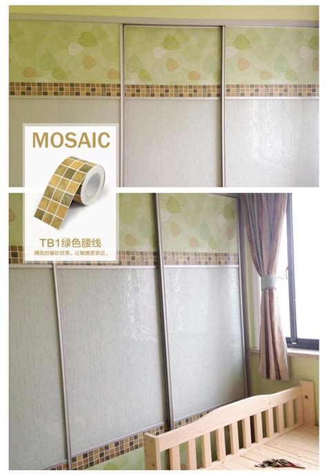 B048 Wall Border Sticker 10cm X 10m bathroom tile wall sticker pvc kitchen waist line adhesive wall paper roll waterproof wallpapers