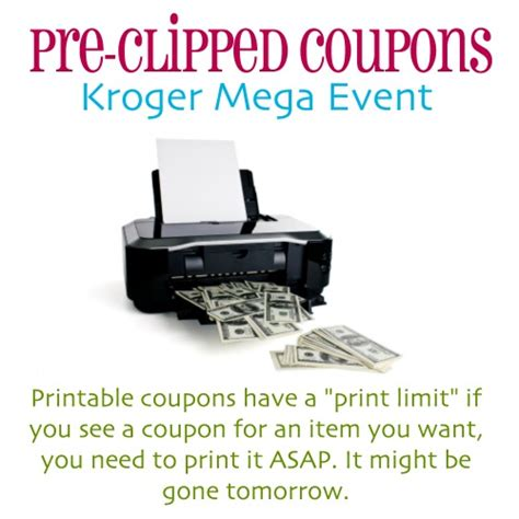 printable grocery coupons for kroger pre clipped coupons for upcoming kroger mega event