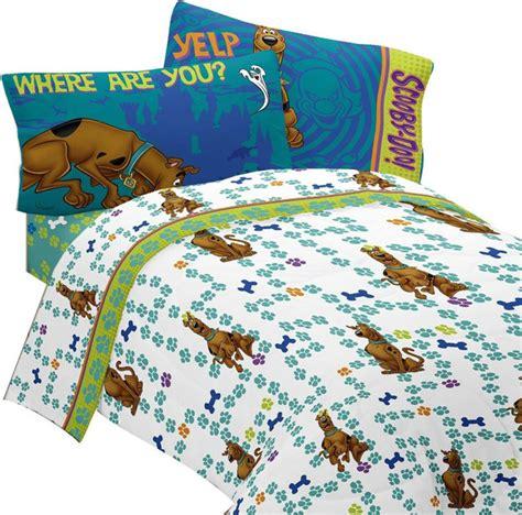scooby doo bed sheet set smiling scooby bedding