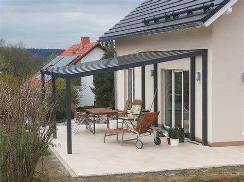 terrassendach ohne wandbefestigung alu terrassendach mit 8 mm vsg glasbedachung breite 4 m
