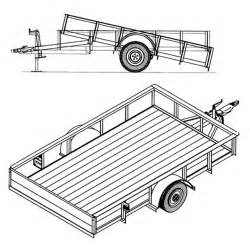 6 4 quot x 10 utility tilt trailer plans 3 500 lb capacity model 1110t johnson trailer parts