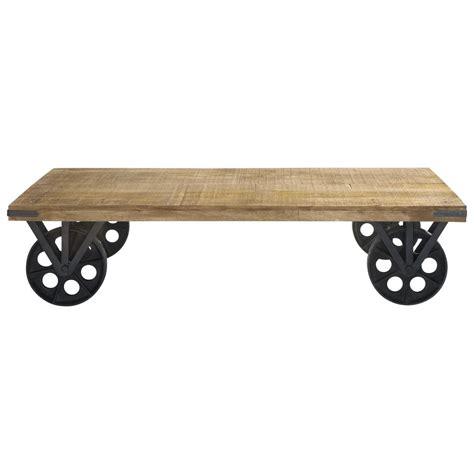 Attrayant Table Basse De Salon Maison Du Monde #4: mesa-baja-con-ruedas-de-mango-y-metal-an-145-cm-gare-du-nord-1000-14-16-121581_1.jpg