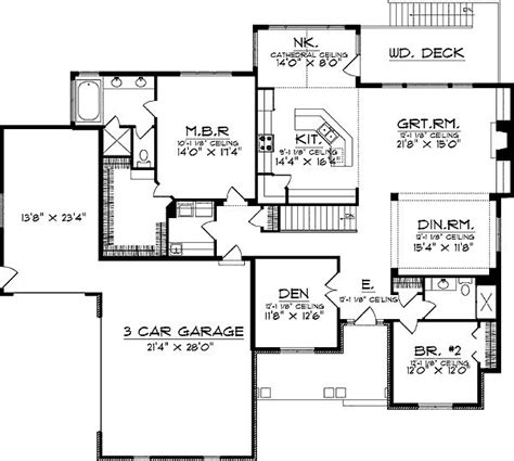 ranch floor plans with walkout basement floor