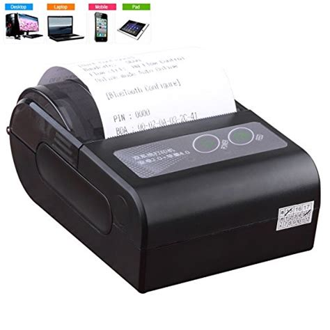 wireless printer app for android lepfun hb4 58mm mini wireless rechargeable portable bluetooth thermal receipt printer support