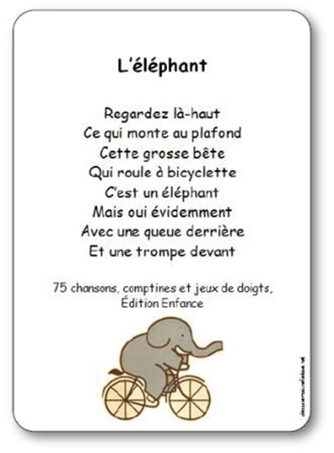 comptine 224 gestes l 233 l 233 phant paroles illustr 233 es quot l
