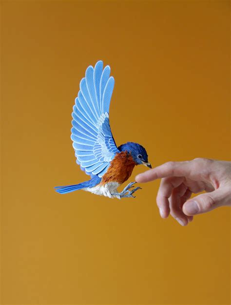 Paper Birds - new lifelike paper birds by diana beltran herrera colossal