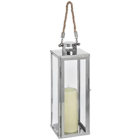 Chrome Candle Lantern Modern Chrome Floor Lantern