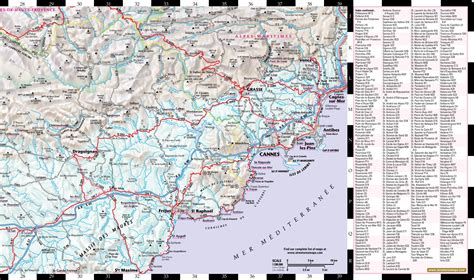 map of provence detailed map of provence my