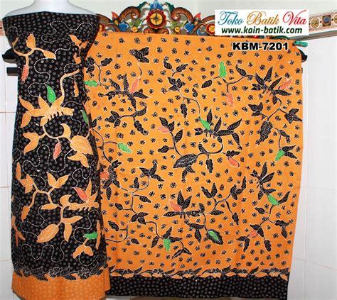 Rok Batik Tulis Madura Pagi Sore batik madura pagi sore tumbuhan dasar hitam kuning kbm