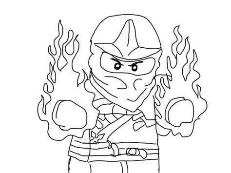 free coloring pages of red ninjago