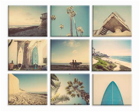 surf home decor set of 9 surf beach decor canvas prints beach photos