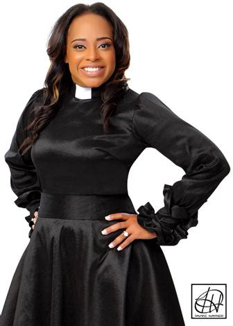 Home Design Group Ni by Ruffle Cuff Clergy Blouse