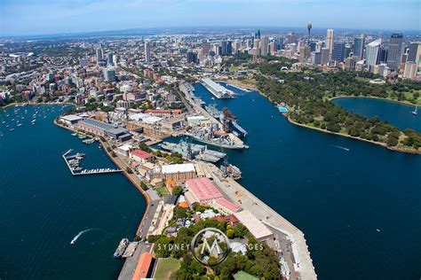 Garden Island by Sydney Aerial Photography Garden Island And