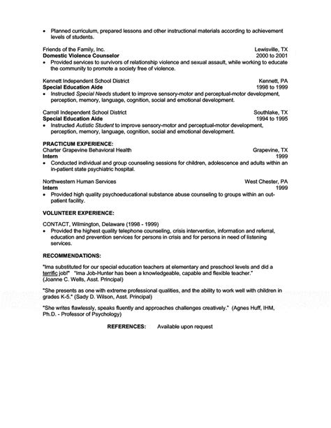 Resume Bullet Points For C Counselor Bullet Point Resume Exles Resume Building Free Popular Resume Templates 2016
