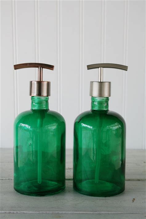 Recycled Glass Bathroom Accessories Rail19 Recycled Glass Soap Dispensers Modern Bathroom Accessories Other Metro By Rail19