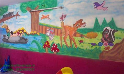 Acrylic Paint For Wall Murals play or preschool wall classroom cartoon painting