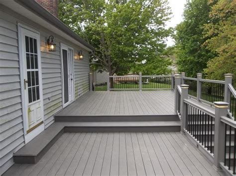 gray deck 60 best images about deck 2016 on pinterest outdoor living raised deck and deck skirting
