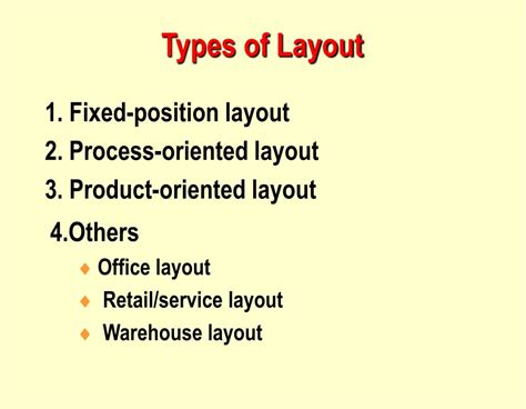 layout strategy chapter 9 ppt operations management chapter 9 layout strategy