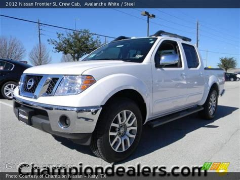 2012 nissan frontier crew cab sl for sale 20 used cars from 16 423 avalanche white 2012 nissan frontier sl crew cab steel interior gtcarlot com vehicle