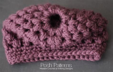how to roll hair around crochet hat into braid crochet messy bun hat pattern