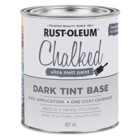 chalk paint at bunnings rust oleum 857ml tint base chalked ultra matt paint