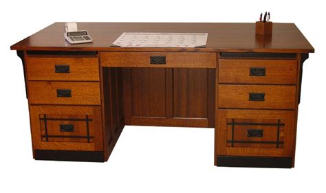 Craftsman Desk by Amish Mission Craftsman Flat Top Executive Desk