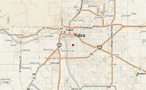 tulsa map tulsa location guide