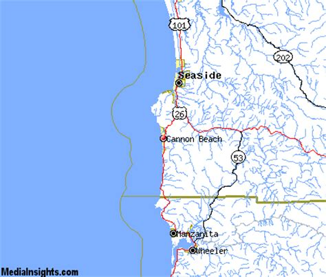 map cannon oregon cannon vacation rentals hotels weather map and