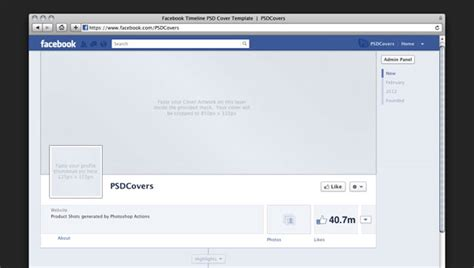 free facebook timeline psd cover templates for download
