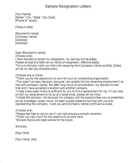 Resignation Letters Exle by 17 Resignation Letter Templates Free Word Pdf Excel Sles Creative Template