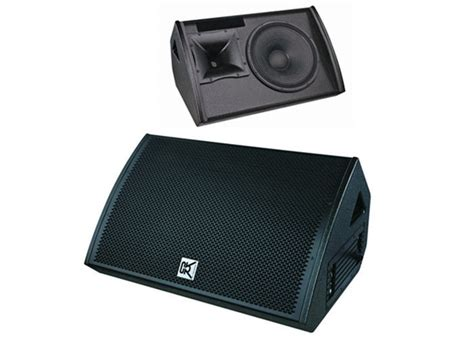 combo concert small powered floor monitor speakers plywood