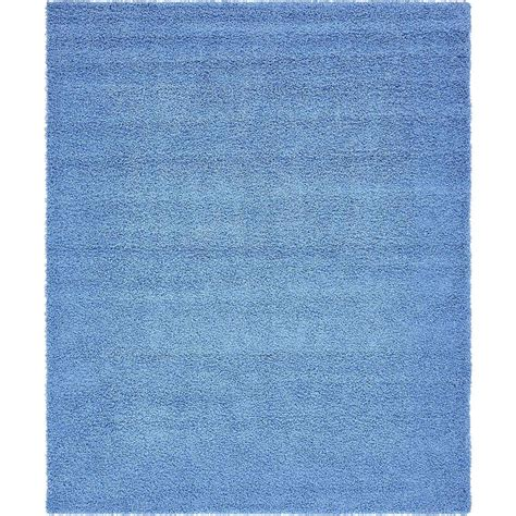 periwinkle rug unique loom solid shag periwinkle blue 8 ft x 10 ft area rug 3136673 the home depot