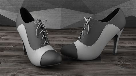 Maxx Black Heels max heels black white