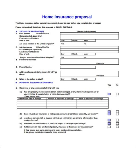 12 Insurance Proposal Templates Sle Templates Business Insurance Template