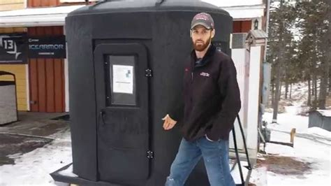 portable fish house the stump portable fish house youtube