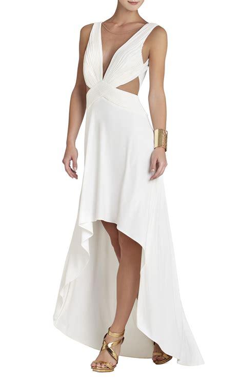 draped white dress bcbgmaxazria anastasia draped crisscross front dress in