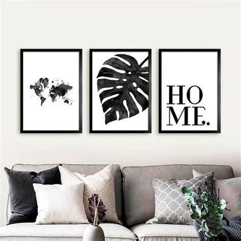 cuadros  living en blanco  negro casa web