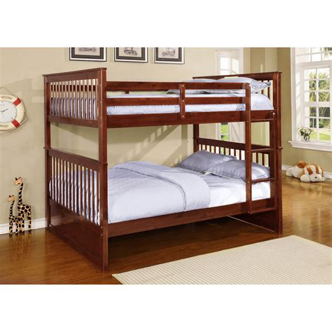 full over full bunk beds wildon home 174 full over full bunk bed reviews wayfair