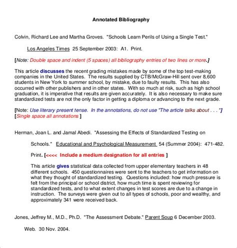 Annotated Bibliography Indentation Apa Annotated Bibliography Template