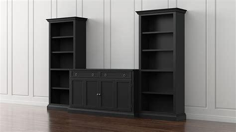 cameo piece modular bruno black media entertainment center reviews crate barrel