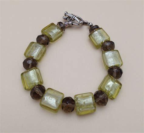 cool beaded jewelry ovaline and smokey quartz bracelet unique beaded jewelry