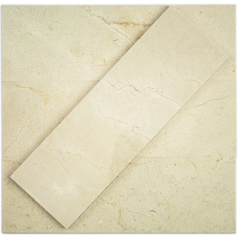 shop 4 x 12 crema marfil polished marble mosaic tile at tilebar