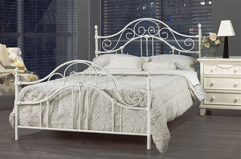 white wrought iron bed frame contemporary