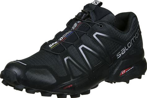 black trail running shoes salomon speedcross 4 trail running shoes black