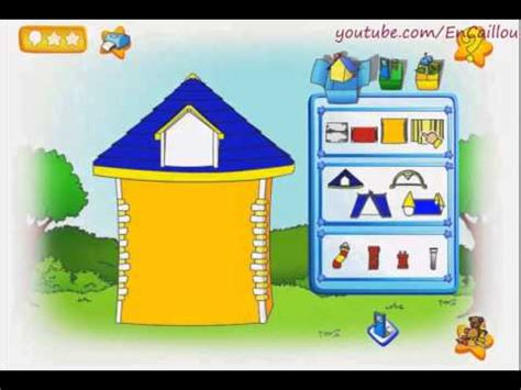 caillou doll house playing caillou builds a dollhouse doovi