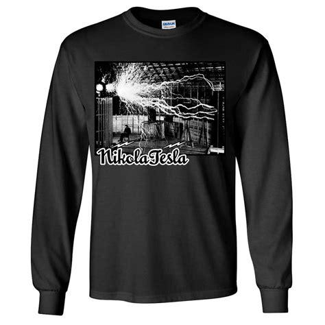 Two Tone Sleeve Shirt tesla coil two tone sleeve shirt ebay